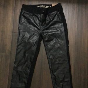 Faux leather American Eagle jeggings